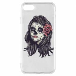 Чохол для iPhone 7 Sugar girl with a rose