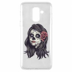 Чохол для Samsung A6+ 2018 Sugar girl with a rose