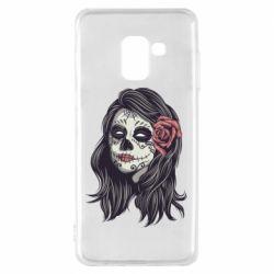 Чохол для Samsung A8 2018 Sugar girl with a rose