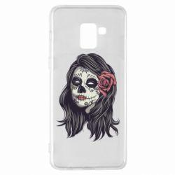 Чохол для Samsung A8+ 2018 Sugar girl with a rose
