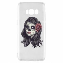 Чохол для Samsung S8 Sugar girl with a rose