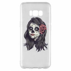 Чохол для Samsung S8+ Sugar girl with a rose