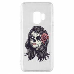 Чохол для Samsung S9 Sugar girl with a rose