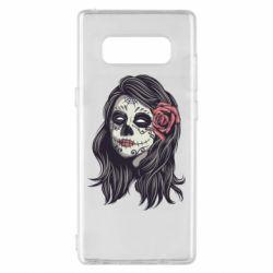 Чохол для Samsung Note 8 Sugar girl with a rose