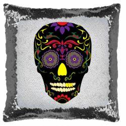 Подушка-хамелеон Sugar Skull Vector