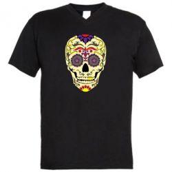 Чоловіча футболка з V-подібним вирізом Sugar Skull Vector