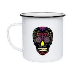 Кружка емальована Sugar Skull Vector