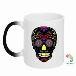 Кружка-хамелеон Sugar Skull Vector
