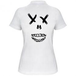 Женская футболка поло Suicide skull