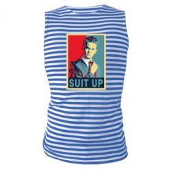 Майка-тельняшка Suit up!