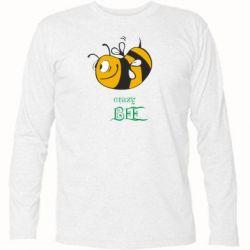 Футболка с длинным рукавом Сумасшедшая пчелка - FatLine