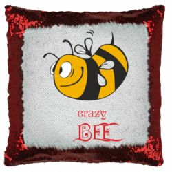 Подушка-хамелеон Сумасшедшая пчелка