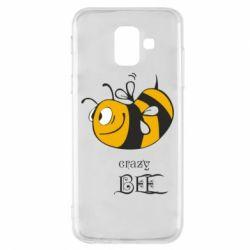 Чехол для Samsung A6 2018 Сумасшедшая пчелка