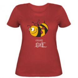 Женская футболка Сумасшедшая пчелка - FatLine
