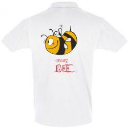 Футболка Поло Сумасшедшая пчелка - FatLine