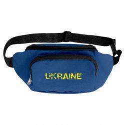 Сумка-бананка Ukraine (потрісканий напис)