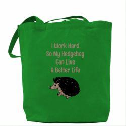Сумка Hedgehog with text