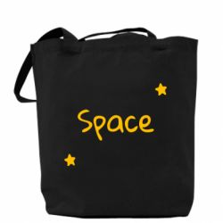Сумка Space: Letters and Stars Print