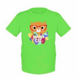 Детская футболка Summer cat