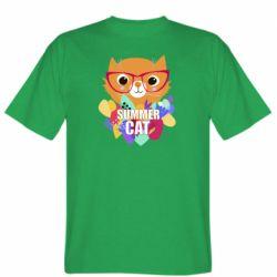 Мужская футболка Summer cat