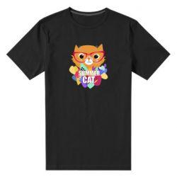 Мужская стрейчевая футболка Summer cat