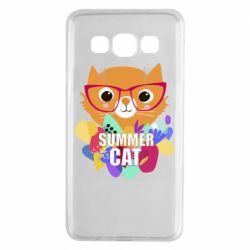 Чехол для Samsung A3 2015 Summer cat