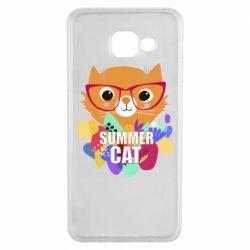 Чехол для Samsung A3 2016 Summer cat