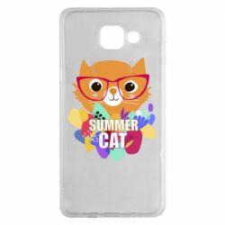Чехол для Samsung A5 2016 Summer cat