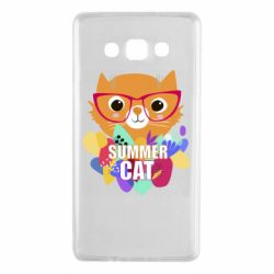 Чехол для Samsung A7 2015 Summer cat