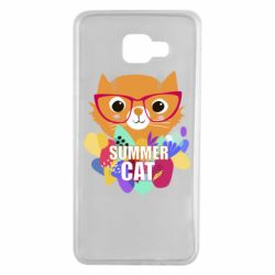 Чехол для Samsung A7 2016 Summer cat
