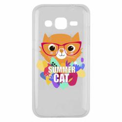 Чехол для Samsung J2 2015 Summer cat