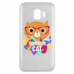 Чехол для Samsung J2 2018 Summer cat