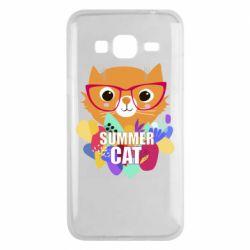Чохол для Samsung J3 2016 Summer cat