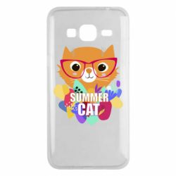 Чехол для Samsung J3 2016 Summer cat