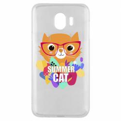 Чехол для Samsung J4 Summer cat