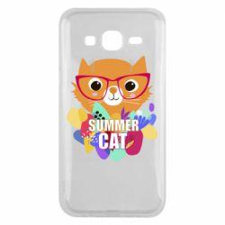 Чехол для Samsung J5 2015 Summer cat