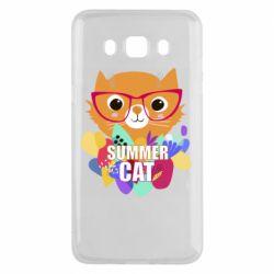 Чехол для Samsung J5 2016 Summer cat
