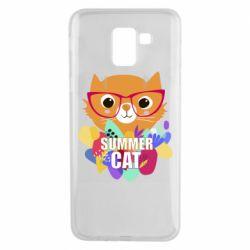 Чехол для Samsung J6 Summer cat