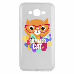 Чехол для Samsung J7 2015 Summer cat
