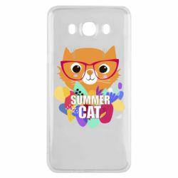 Чехол для Samsung J7 2016 Summer cat