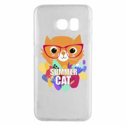 Чехол для Samsung S6 EDGE Summer cat