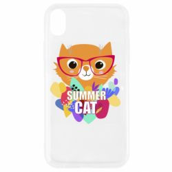 Чехол для iPhone XR Summer cat