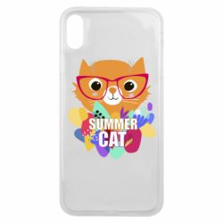 Чехол для iPhone Xs Max Summer cat