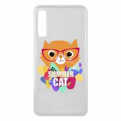 Чехол для Samsung A7 2018 Summer cat