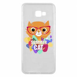 Чехол для Samsung J4 Plus 2018 Summer cat