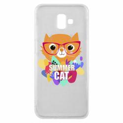 Чехол для Samsung J6 Plus 2018 Summer cat