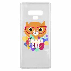 Чехол для Samsung Note 9 Summer cat