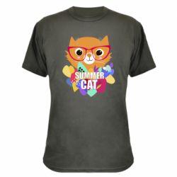 Камуфляжна футболка Summer cat