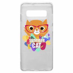 Чохол для Samsung S10+ Summer cat