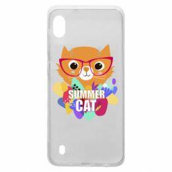 Чохол для Samsung A10 Summer cat